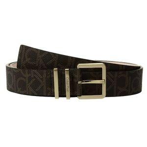 NWT Calvin Klein Belt w/ Harness Buckle, Brown, M